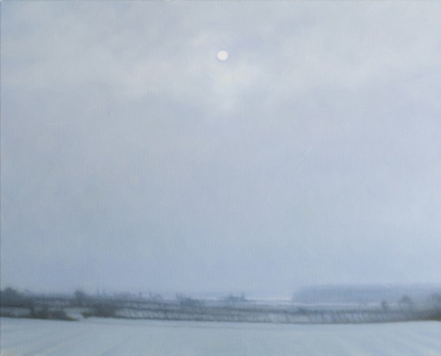 Udsigten(Vinter)/The View(Winter), 2012. Olie på lærred/Oil on canvas, 60x75 cm. Foto: Anders Sune Berg.