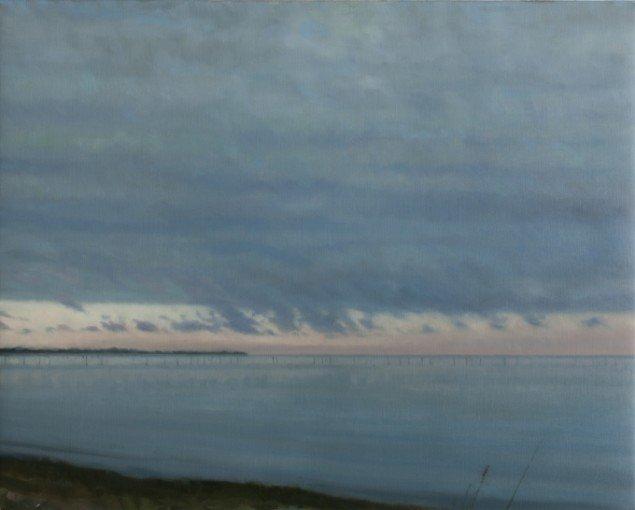 Søstykke (Spodsbjerg)/Seascape (Spodsbjerg), 2013. Olie på lærred/Oil on canvas, 60x75 cm. Foto: Anders Sune Berg.