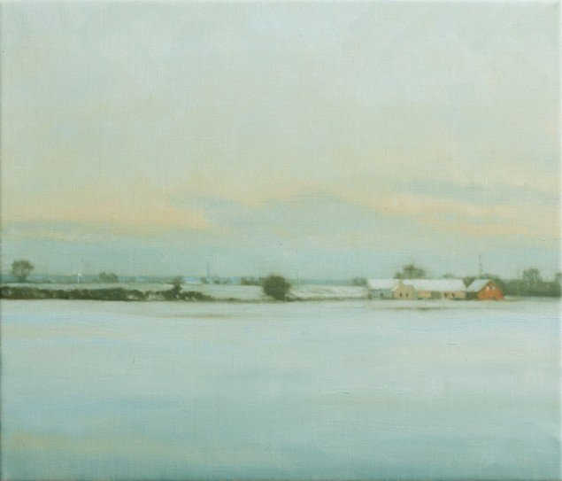 Landskab(Vinter)/Landscape(Vinter), 2012. Olie på lærred/Oil on canvas, 30x35 cm. Foto: Anders Sune Berg.