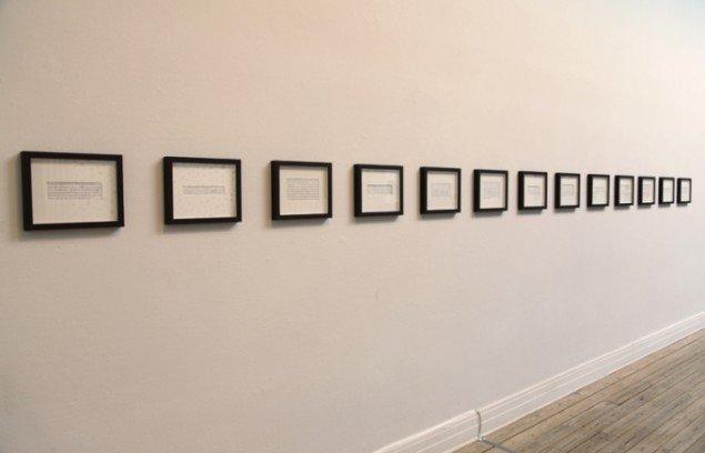Birgitte Kristensen: Kunstnerstatements, Guirlanden 2013. Foto: Else Ploug Isaksen