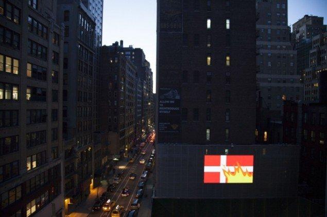 Superflex: Rebranding Denmark 2006, Big Screen Plaza