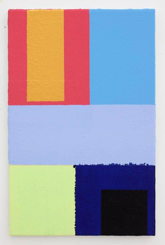 Uden titel, 2012. Akryl på lærred, 59 cm x 38 cm. Foto: Erling Jeppesen