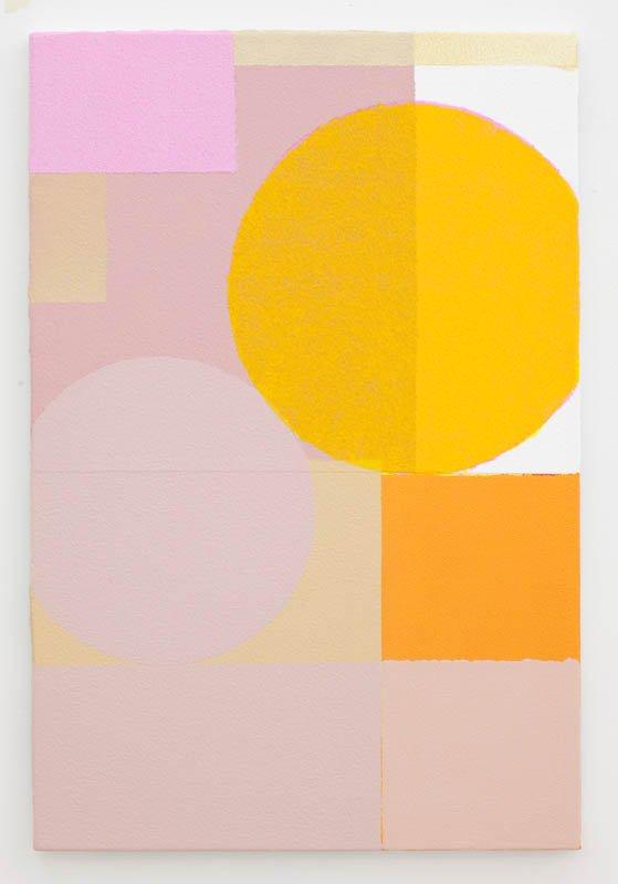 Uden titel, 2012. Akryl på lærred, 61 cm x 40 cm. Foto: Erling Jeppesen