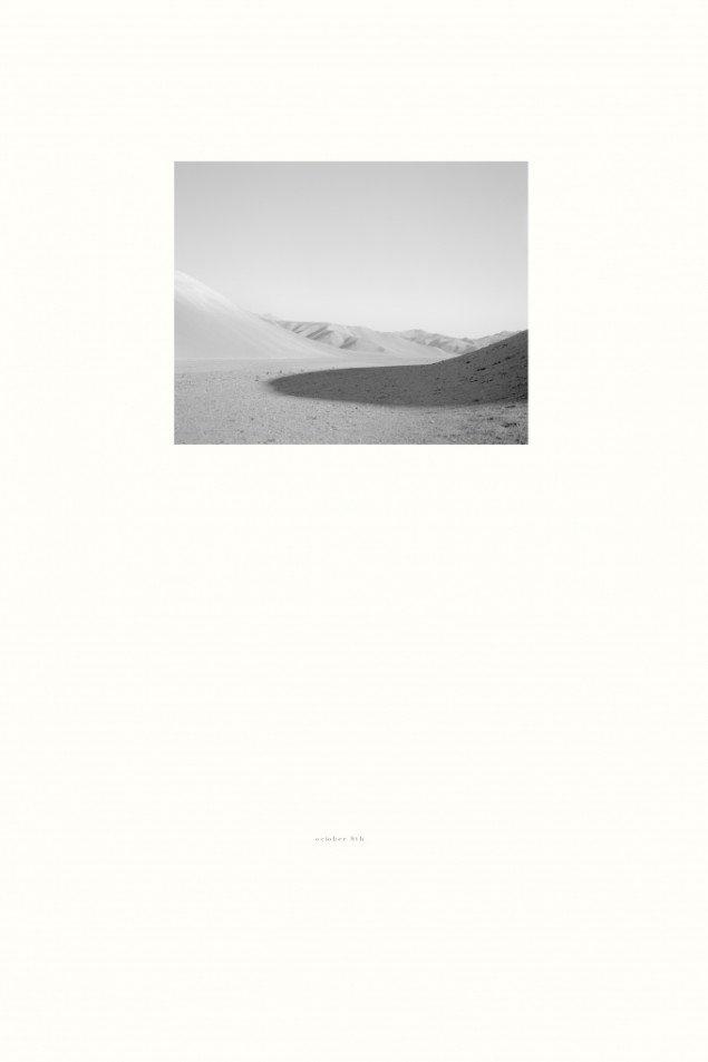 Adam Jeppesens Untitled – October 8th (shadow), 2013, photogravure, framed, 79 x 54.5 cm. Courtesy Peter Lav Gallery