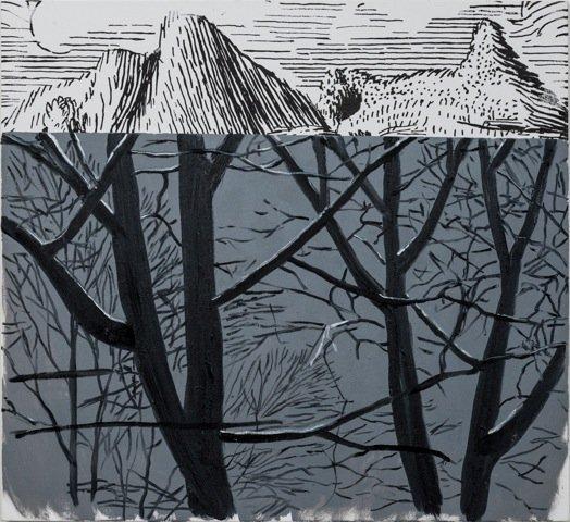 Dexter Dalwoods Marie-Henri Beyle, 2013.  92 x 100 cm, oil on canvas. Courtesy David Risley Gallery