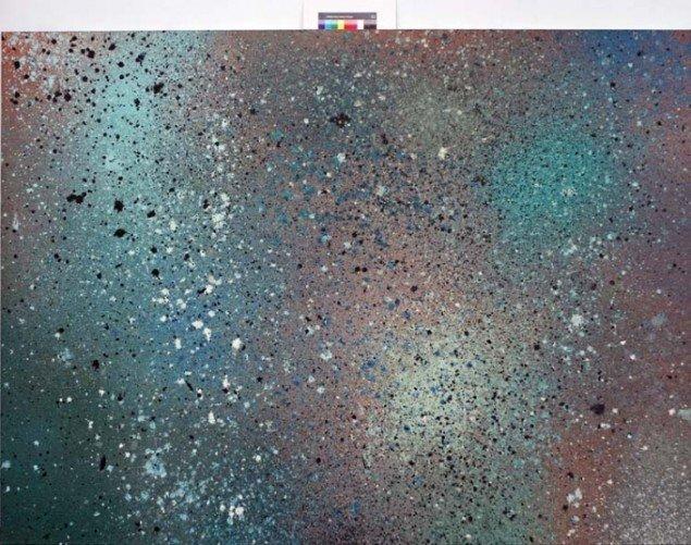 Brinth, Eksplosionsmaleri 2,50m x 1,80m  Foto: Jannie Wurtz Sloek