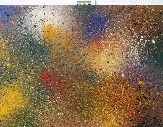 M.F. Eksplosionsmaleri 2,50m x 1,80m  Foto:Jannie Wurtz Sloek