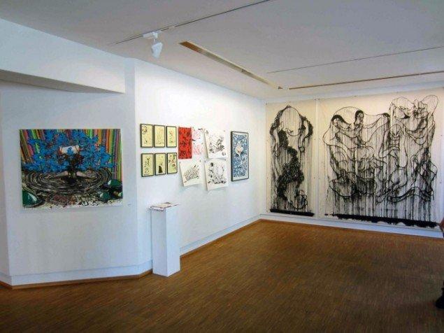 Sideudstillingen på Galleri NB, installationsview. Foto: Anders Reventlov.