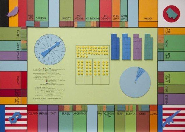 Öyvind Fahlström: World Trade Monopoly, 1970. (© Sharon Avery-Fahlström/Aurel Scheibler, Berlin)