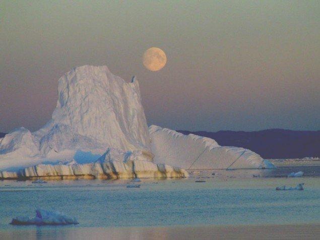 Kirsten Klein: Måneopgang ved Saiqaq, September. Foto: Kirsten Klein