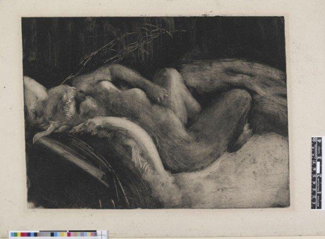 Edgar Degas, Sleep, 1883-1885, Monotype on paper, (British Museum)