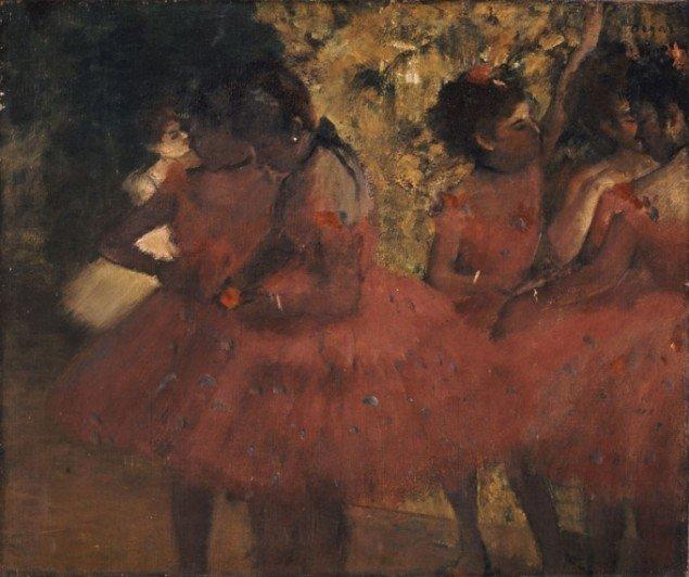 Edgar Degas (1834-1917), Dancers in Red Skirts, c. 1884, oil on canvas, (Ny Carlsberg Glyptotek)