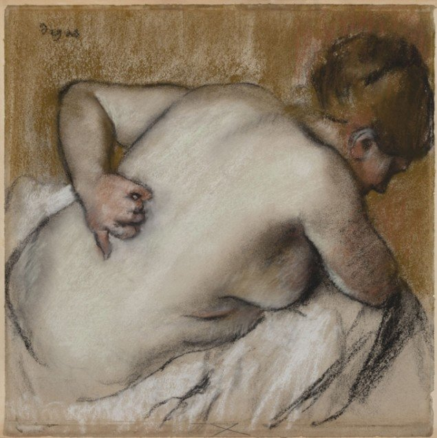 Degas, Woman Scratching her Back, 1881 Pastel on paper, (Denver Art Museum)