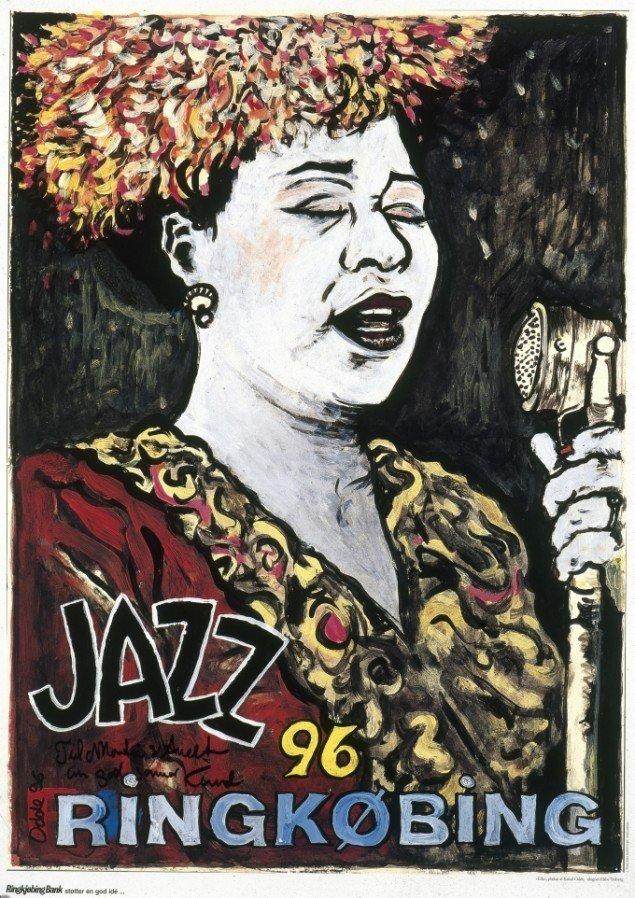 Ella Fitzgerald, 1996. Plakat, off-set, 90/65 cm. Fotograf: Anders Sune Berg