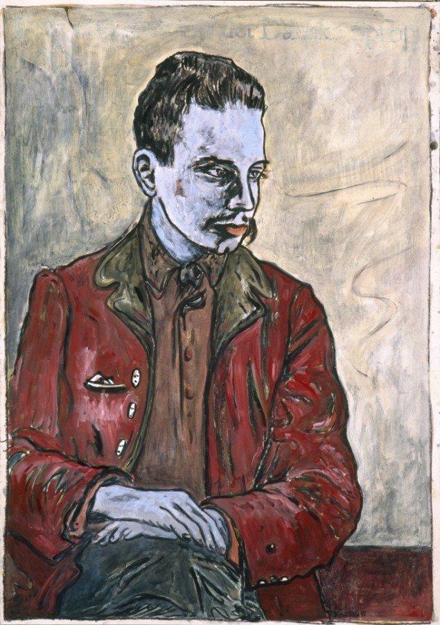 Ranier Maria Rilke, 1997. Akryl på papir, 100/70 cm. Fotograf: Bent Ryberg