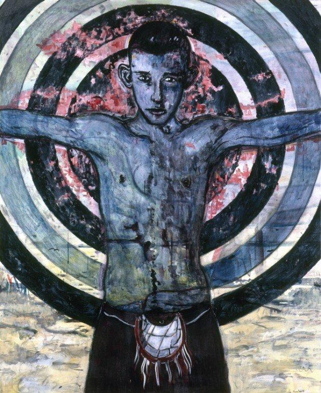 Sol Invictus, 1997. Akryl på lærred, 150/120 cm. Fotograf: Bent Ryberg