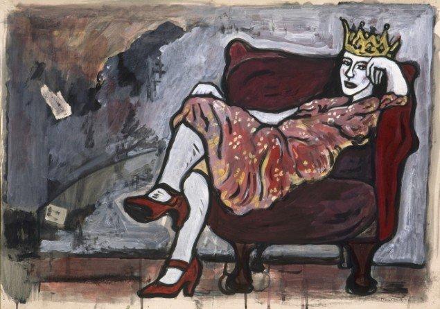 Janina, 1997.Akryl på papir, 50/70 cm. Fotograf: Bent Ryberg
