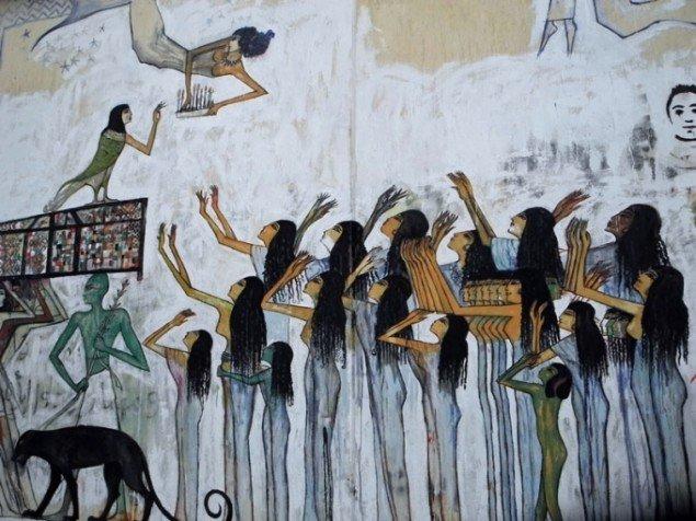 Alaa Awad: Battle Mural (detalje), 2012. (Pressefoto)