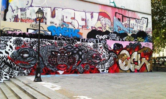 Street Art af cambodjanske Lisa Mam. (Pressefoto)