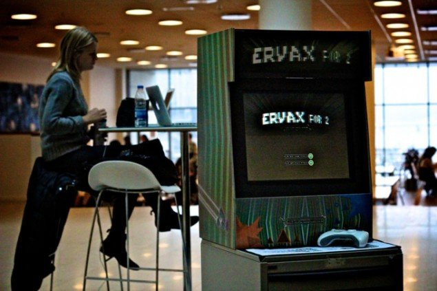 ERVAX 2 for 2, Simon Nielsen og Anders Monrad, 2012. Installation under festivalen re-new 2012 (Foto: Jeppe Gade Hvirvelkær)