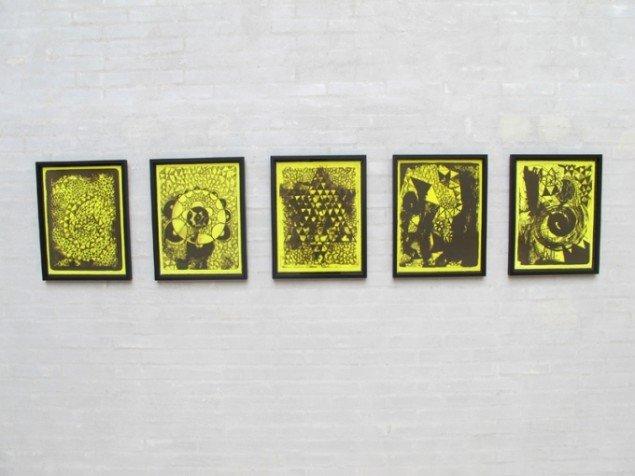 RESTORING THE ELEMENTS, 5 x 46 x 35 cm. Litografisk tryk, 2013 Steinprent - Færøernes Grafiske Værksted. Foto: Jonas Hvid Søndergard