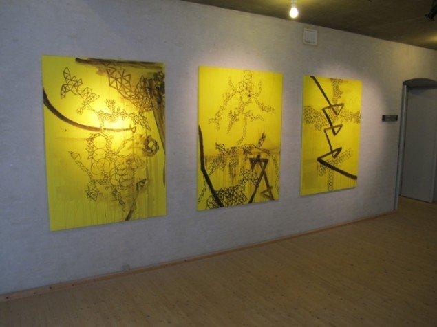 One Point Creator, 3 x 150 x 110 cm, akryl på lærred, 2013. Foto: Jonas Hvid Søndergard
