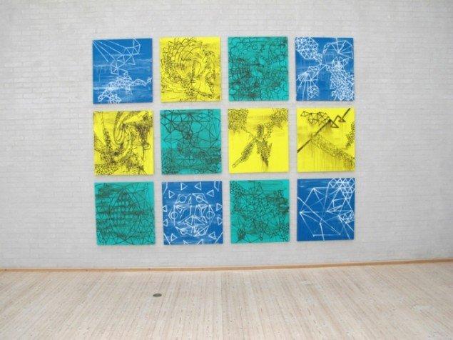 ALL REAL, 12 x 80x 75 cm, akryl på lærred, 2013. Foto: Jonas Hvid Søndergard