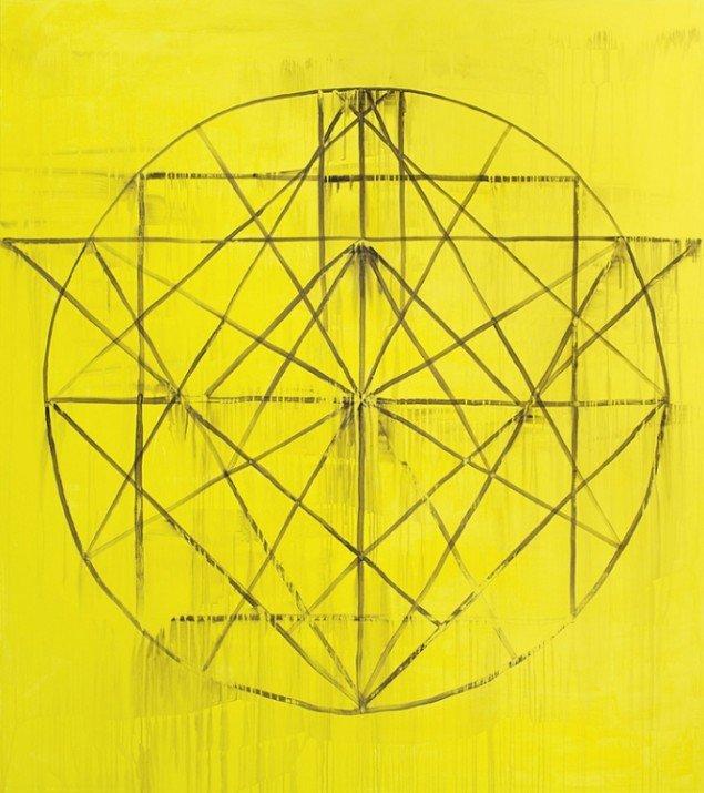VORTEX WORLD, 3 x 190 x 170 cm, akryl på lærred, 2013.