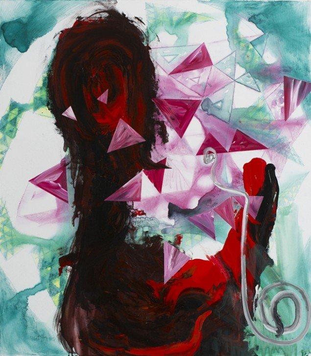 MINERAL WORLD, 3 x 115x100 cm, akryl på lærred, 2013.