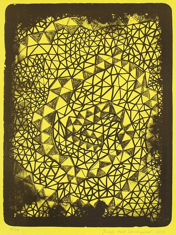 RESTORING THE ELEMENTS, 5 x 46 x 35 cm. Litografisk tryk, 2013. Steinprent - Færøernes Grafiske Værksted.