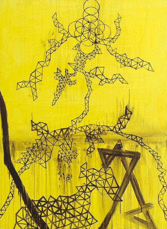 One Point Creator, 3 x 150 x 110 cm, akryl på lærred, 2013.
