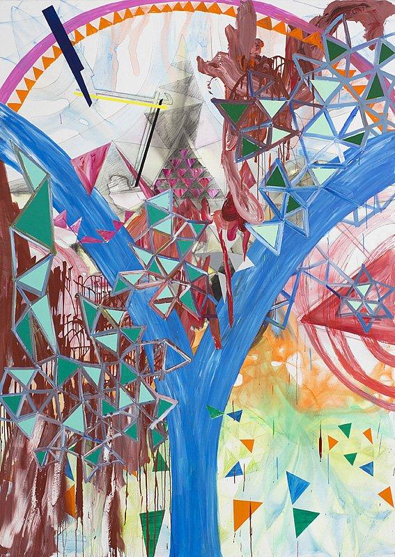 Secret Of Creation, 260 x185 cm, akryl på lærred, 2013.