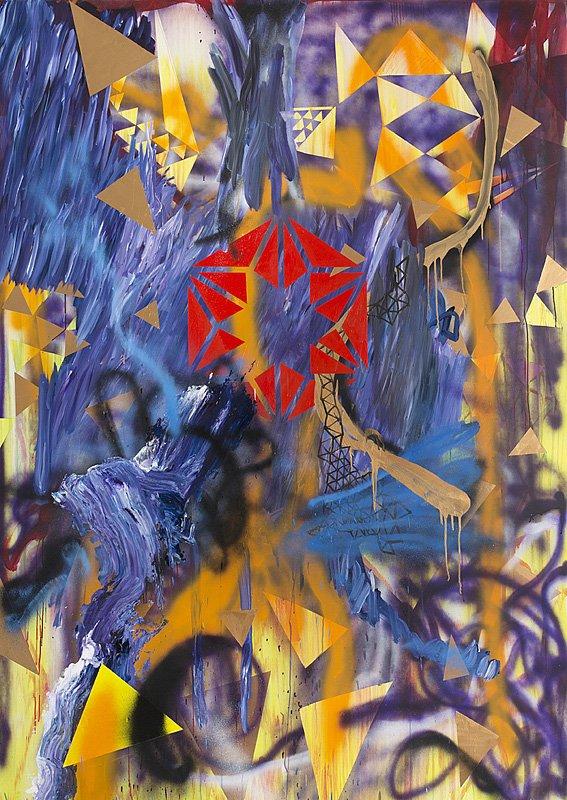Freedomfighters, 260 x185 cm, akryl på lærred, 2013.