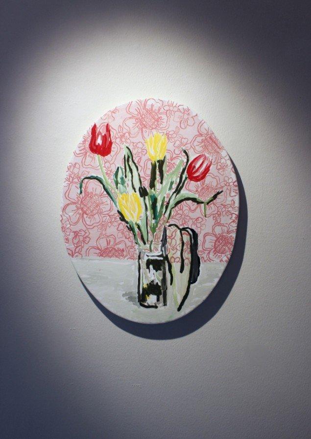 Lars Heiberg: Vase med 4 tulipaner, 2013. Foto: Lars Heiberg