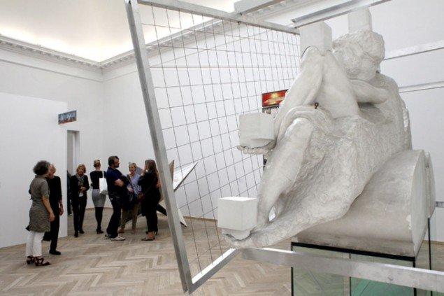 Bjørn Nørgaards Asocial skulptur fra CHARTs særlige præsentationer. (Foto: Carsten Nordholt)