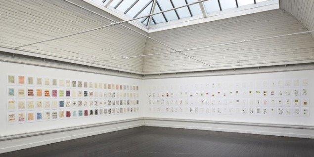 Aagaard Andersen i brug, Installationsfoto – skitsesalen. (Pressefoto)