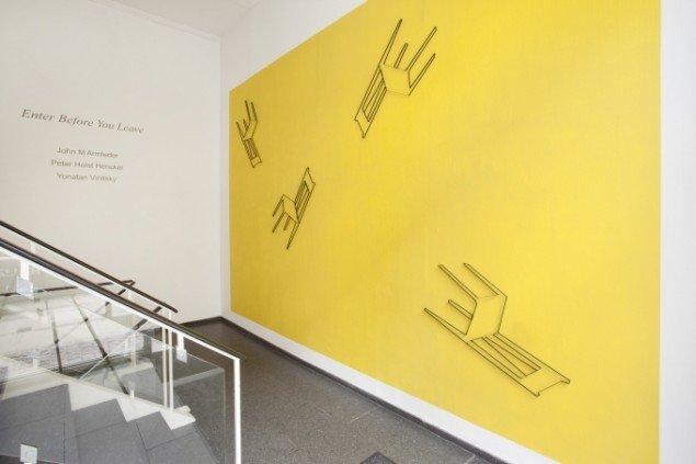 Yonatan Vinitsky: Enter Before You Leave, installationview. Foto: Erling Lykke Jeppesen