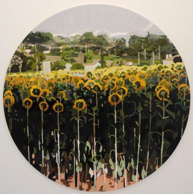 Erik A. Frandsen: Arles, scagliola, 147 cm diameter, 2013. Foto: Jan Søndergaard
