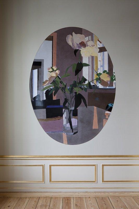 Erik A. Frandsen: Flowers, Fælledvej. Frederik 8's Palæ, Amalienborg, scagliola, 300 x 180 cm, 2010. Foto: Erik A. Frandsen