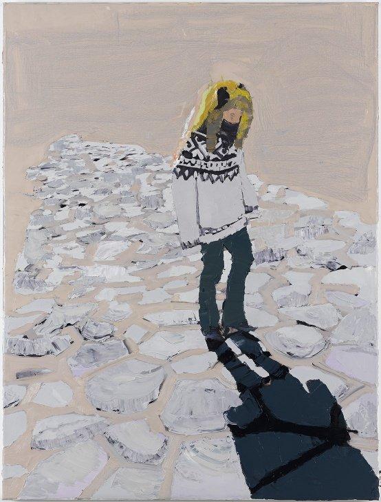 Erik A. Frandsen: Girl at Forum Romanum, Rome, olie på lærred, 82 x 62 cm, 2007. Foto: Jan Søndergaard