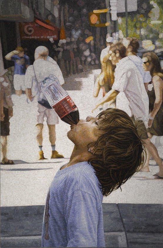 Erik A. Frandsen: Sikker, mosaik, 220 x 145 cm, 2007. Foto: Erik A. Frandsen