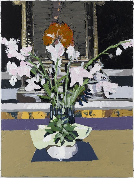 Erik A. Frandsen: Flowers, Pietrasanta # 2, olie på lærred, 82 x 62 cm, 2007. Foto: Jan Søndergaard