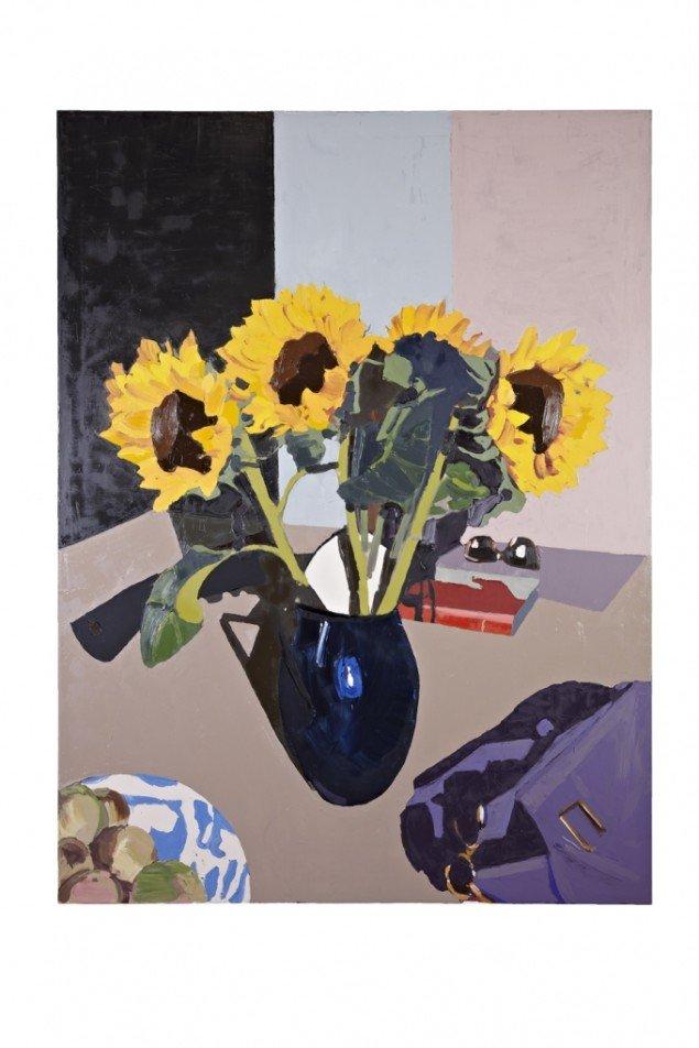 Erik A. Frandsen: Spisebord Fælledvej I, olie på lærred, 180 x 135 cm, 2012. Foto: Jan Søndergaard