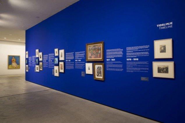 Installationsview, Frida Kahlo – et liv i kunsten, ARKEN, 2013. (Foto: Anders Sune Berg)