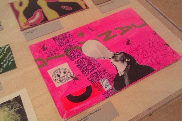 Mail art-værk af danske Mogens Otto Nielsen. Foto: Theis Vallø Madsen