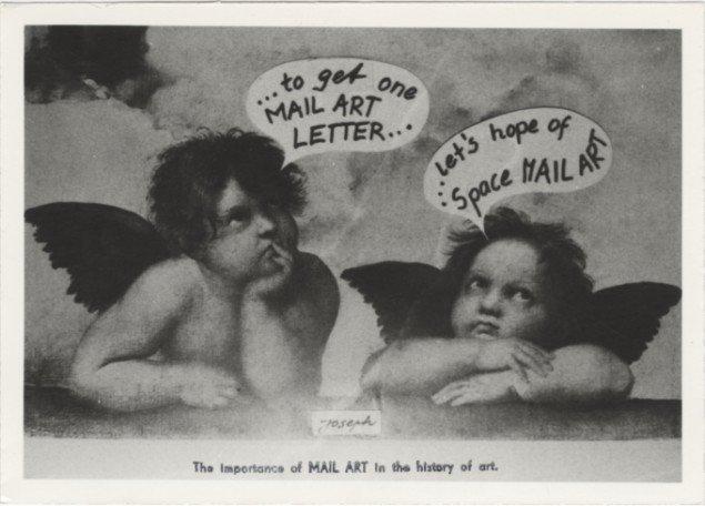Fra udstillingen Arte Postale - Bilderbriefe, Künstlerpostkarten, Mail Art, Akademie der Künste, 2013. Foto: Theis Vallø Madsen