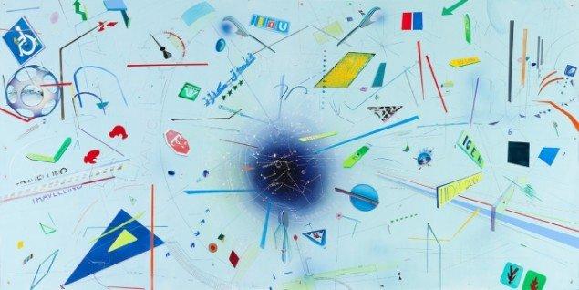 Trine Boesen: Map II. Acryl og blyant på birkefiner. 122X244 cm, 2013. Foto: Peter Misfelt