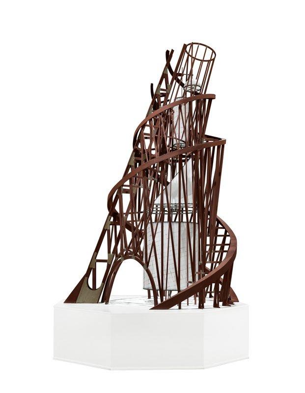 Vladimir Tatlin, Modell till monument till III:e internationalen, 1919–1920, rekonstruktion 1968/1976© Vladimir Tatlin. Foto: Moderna Museet/Albin Dahlström