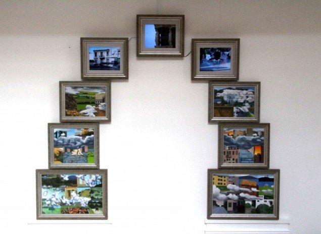 Bodil Brems: Evige Mure - Livets Port – Flashback, 2013 (akryl på lærred, fotografi, video og installation). Foto: Helle Nanny Brendstrup