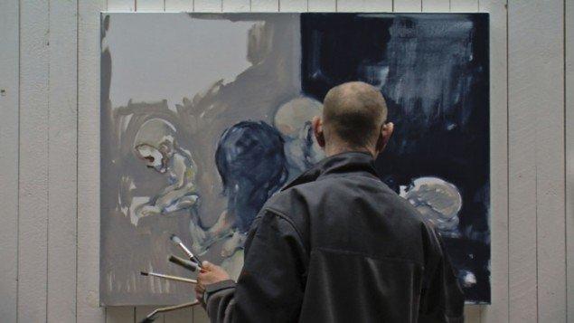 Det skinbarlige øje – en film om maleren Michael Kvium. (Still fra filmen)